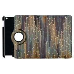 Vertical Behance Line Polka Dot Grey Orange Apple Ipad 3/4 Flip 360 Case