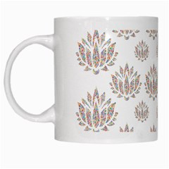 Dot Lotus Flower Flower Floral White Mugs by Mariart
