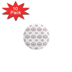 Dot Lotus Flower Flower Floral 1  Mini Magnet (10 Pack)  by Mariart