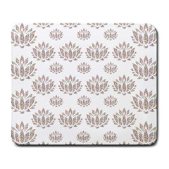 Dot Lotus Flower Flower Floral Large Mousepads by Mariart