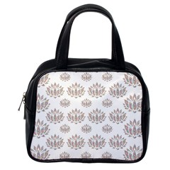 Dot Lotus Flower Flower Floral Classic Handbags (one Side) by Mariart