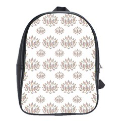 Dot Lotus Flower Flower Floral School Bags(large)