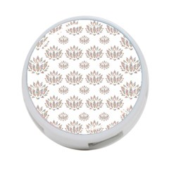 Dot Lotus Flower Flower Floral 4 Port Usb Hub (two Sides)  by Mariart