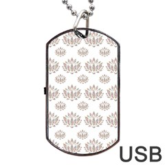Dot Lotus Flower Flower Floral Dog Tag Usb Flash (two Sides) by Mariart