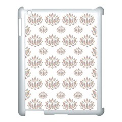 Dot Lotus Flower Flower Floral Apple Ipad 3/4 Case (white) by Mariart