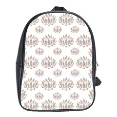 Dot Lotus Flower Flower Floral School Bags (xl)  by Mariart