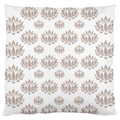 Dot Lotus Flower Flower Floral Large Flano Cushion Case (one Side) by Mariart