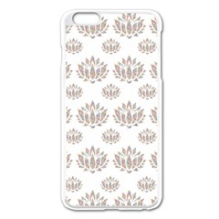 Dot Lotus Flower Flower Floral Apple Iphone 6 Plus/6s Plus Enamel White Case by Mariart