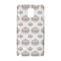 Dot Lotus Flower Flower Floral Samsung Galaxy Note 4 Hardshell Case by Mariart