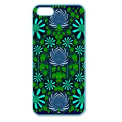 Strawberry Fantasy Flowers In A Fantasy Landscape Apple Seamless Iphone 5 Case (color) by pepitasart