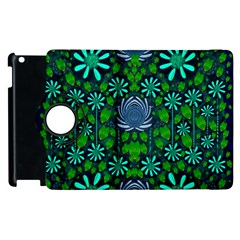 Strawberry Fantasy Flowers In A Fantasy Landscape Apple Ipad 3/4 Flip 360 Case by pepitasart