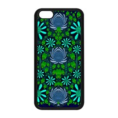 Strawberry Fantasy Flowers In A Fantasy Landscape Apple Iphone 5c Seamless Case (black) by pepitasart