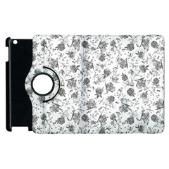 Floral Pattern Apple Ipad 3/4 Flip 360 Case by ValentinaDesign