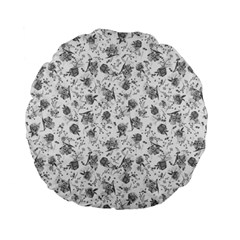 Floral Pattern Standard 15  Premium Flano Round Cushions by ValentinaDesign