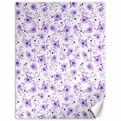 Floral Pattern Canvas 18  X 24   by ValentinaDesign