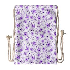 Floral Pattern Drawstring Bag (large) by ValentinaDesign