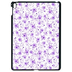 Floral Pattern Apple Ipad Pro 9 7   Black Seamless Case by ValentinaDesign