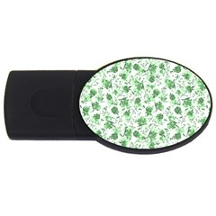 Floral Pattern Usb Flash Drive Oval (2 Gb) by ValentinaDesign