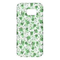 Floral Pattern Samsung Galaxy S7 Edge Hardshell Case by ValentinaDesign