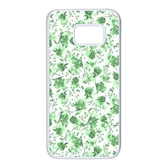 Floral Pattern Samsung Galaxy S7 White Seamless Case