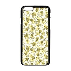 Floral Pattern Apple Iphone 6/6s Black Enamel Case by ValentinaDesign