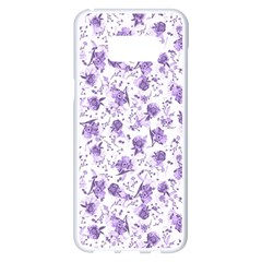 Floral Pattern Samsung Galaxy S8 Plus White Seamless Case