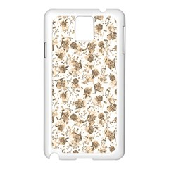 Floral Pattern Samsung Galaxy Note 3 N9005 Case (white) by ValentinaDesign
