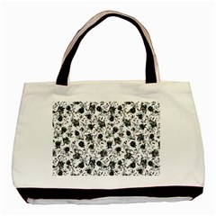 Floral Pattern Basic Tote Bag (two Sides) by ValentinaDesign