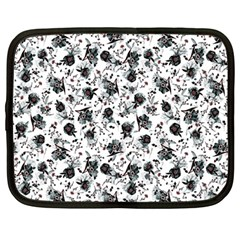 Floral Pattern Netbook Case (large) by ValentinaDesign