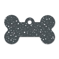 Dots Pattern Dog Tag Bone (one Side) by ValentinaDesign