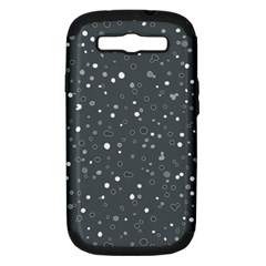 Dots Pattern Samsung Galaxy S Iii Hardshell Case (pc+silicone)