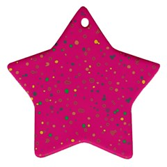 Dots Pattern Ornament (star) by ValentinaDesign