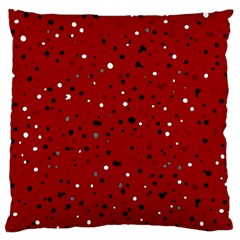Dots Pattern Large Flano Cushion Case (one Side) by ValentinaDesign