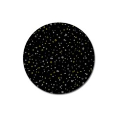 Dots Pattern Magnet 3  (round) by ValentinaDesign