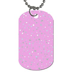 Dots Pattern Dog Tag (one Side) by ValentinaDesign
