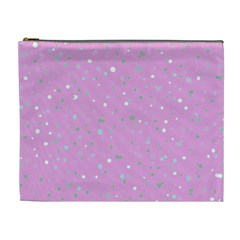 Dots Pattern Cosmetic Bag (xl) by ValentinaDesign