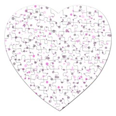 Dots Pattern Jigsaw Puzzle (heart) by ValentinaDesign
