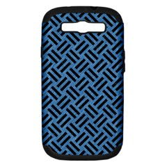 Woven2 Black Marble & Blue Colored Pencil (r) Samsung Galaxy S Iii Hardshell Case (pc+silicone) by trendistuff