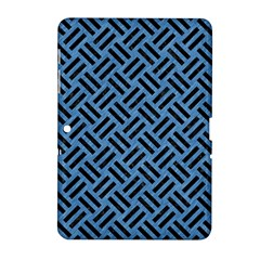 Woven2 Black Marble & Blue Colored Pencil (r) Samsung Galaxy Tab 2 (10 1 ) P5100 Hardshell Case  by trendistuff