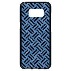 Woven2 Black Marble & Blue Colored Pencil (r) Samsung Galaxy S8 Black Seamless Case by trendistuff