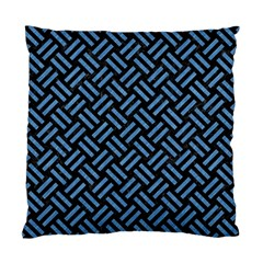 Woven2 Black Marble & Blue Colored Pencil Standard Cushion Case (one Side) by trendistuff
