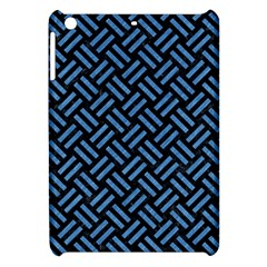 Woven2 Black Marble & Blue Colored Pencil Apple Ipad Mini Hardshell Case by trendistuff