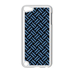 Woven2 Black Marble & Blue Colored Pencil Apple Ipod Touch 5 Case (white) by trendistuff