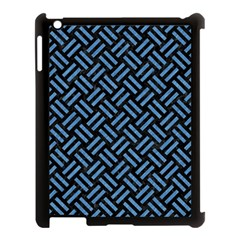 Woven2 Black Marble & Blue Colored Pencil Apple Ipad 3/4 Case (black) by trendistuff