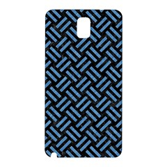 Woven2 Black Marble & Blue Colored Pencil Samsung Galaxy Note 3 N9005 Hardshell Back Case by trendistuff