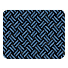 Woven2 Black Marble & Blue Colored Pencil Double Sided Flano Blanket (large) by trendistuff