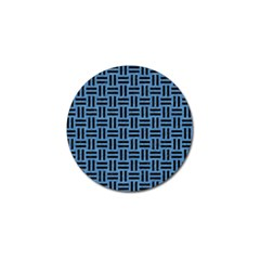 Woven1 Black Marble & Blue Colored Pencil (r) Golf Ball Marker (4 Pack) by trendistuff