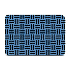 Woven1 Black Marble & Blue Colored Pencil (r) Plate Mat by trendistuff