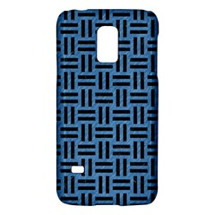 Woven1 Black Marble & Blue Colored Pencil (r) Samsung Galaxy S5 Mini Hardshell Case  by trendistuff
