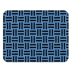 Woven1 Black Marble & Blue Colored Pencil (r) Double Sided Flano Blanket (large) by trendistuff